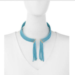 Fragments Seed Bead Fringed Choker Necklace